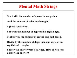 Thoughtful-ed Math PowerPoint