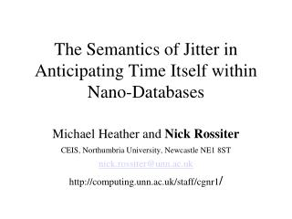 The Semantics of Jitter in Anticipating Time Itself within Nano ...