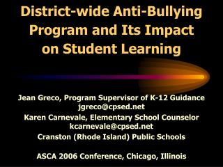 District-wide Anti-Bullying Program and Its Impact on Student ...