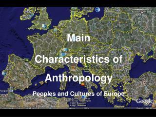 Distincitve Qualities of Anthropology Concept of Culture ...