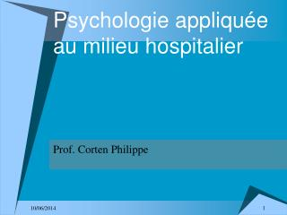 Psychologie appliqu e au milieu hospitalier