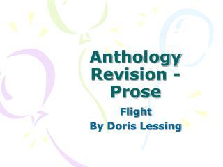 Anthology Revision - Prose