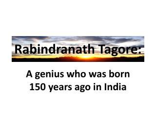 Rabindranath Tagore: