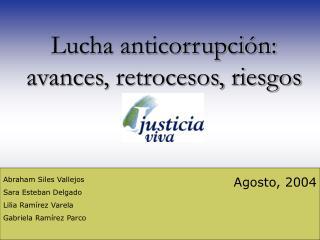 Lucha anticorrupci
