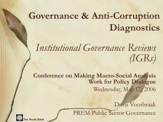 Governance  Anti-Corruption Diagnostics