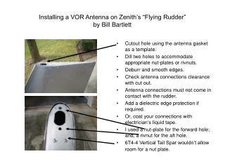 Installing a VOR Antenna on Zenith