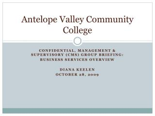 Antelope Valley Community College