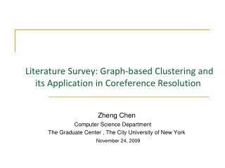 Literature Survey: Graph-based Cluste