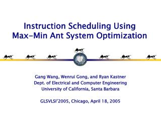 Instruction Scheduling Using Max-Min Ant System Optimization