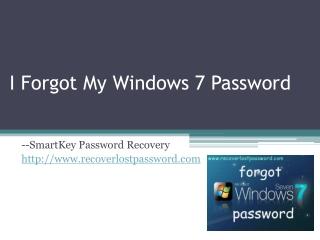 I Forgot My Windows 7 Password
