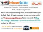 Cheap Full Coverage Car Insurance For  All People