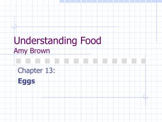 Understanding Food Amy Brown