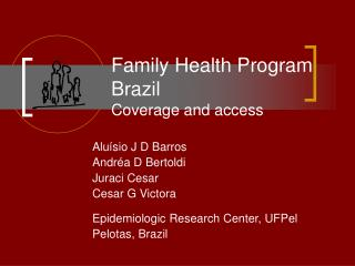 Family Health Program Brazil Coverage and access