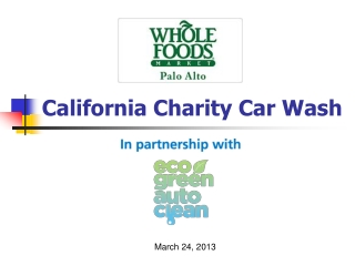 Charity Car Wash with Eco Green Auto Clean