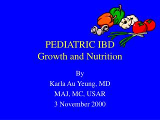 PEDIATRIC IBD Growth and Nutrition