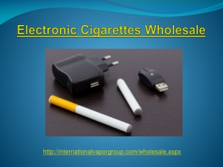 Electronic Cigarettes Wholesale