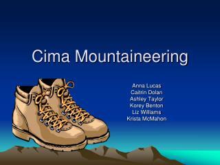 Cima Mountaineering
