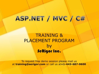 .Net Training and Placement Progrma