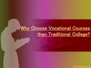 Why Choose Vocational Courses than Traditional College