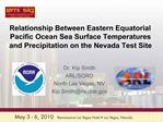 Relationship Between Eastern Equatorial Pacific Ocean Sea Surface ...