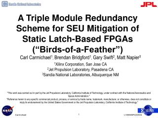 A Triple Module Redundancy Scheme for SEU Mitigation of Static ...