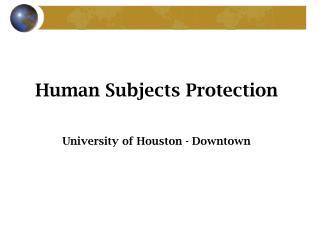 Human Subjects Presentation
