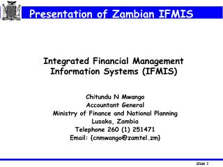 Integrated Financial Management Information Systems IFMIS