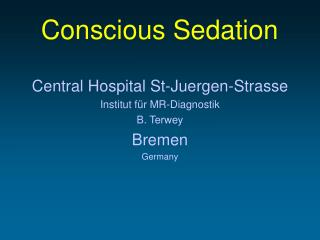 Conscius sedation in children