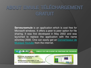 About Emule Téléchargement Gratuit