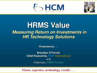 HRMS Value Measuring Return on Investmen