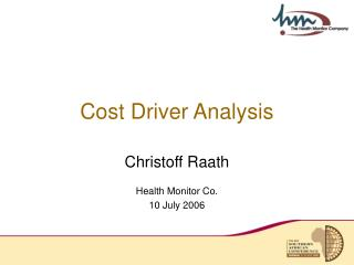 Cost Driver Analysis
