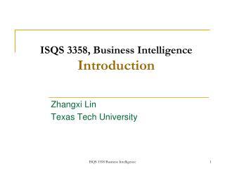 ISQS 3358