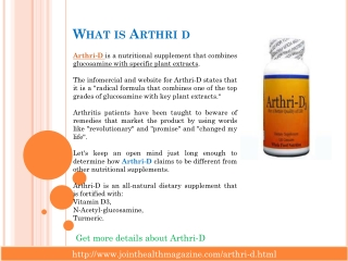 Arthri D- Best supplement for joint pain