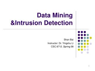 Data Mining Intrusion Detection