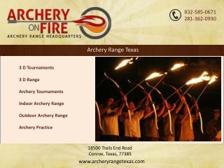 Archery Range Texas