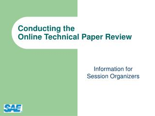 Conducting the Online Technical Paper Review