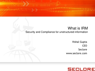 Seclore - What is IRM - Security & Compliance