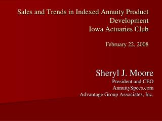 Sales and Trends in Indexed Annuity Product Development Iowa ...