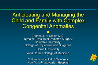 Anticipating and Managing the Child and Family with Complex ...