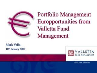 Portfolio Management Europportunities from Valletta Fund Management