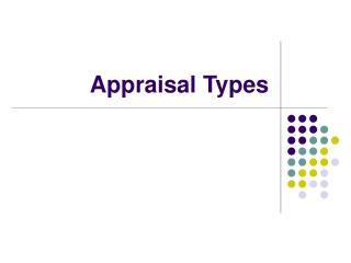 Appraisal Types