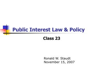 Public Interest Law  Policy