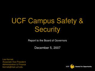 UCF Campus Safety  Security