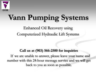Vann Pumping Systems