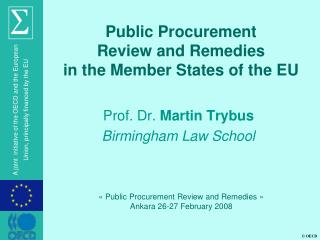 Public Procurement Review and Remedies in the Member States of ...
