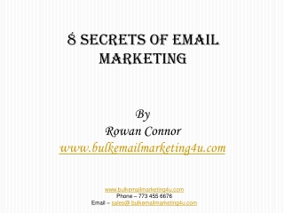 8 Secrets of email marketing