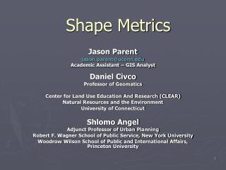 Shape Metrics