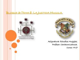 Tema 8-Bloque 3: La Justicia Muggle.