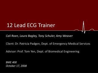 12 Lead ECG Trainer