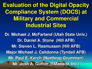 Evaluation of the Digital Opacity Compliance System DOCS at ...